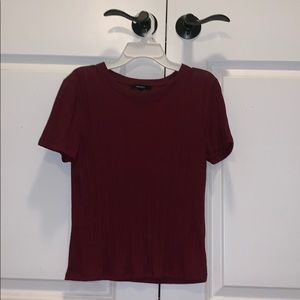 Maroon Short Sleeve Tee (fitted)
